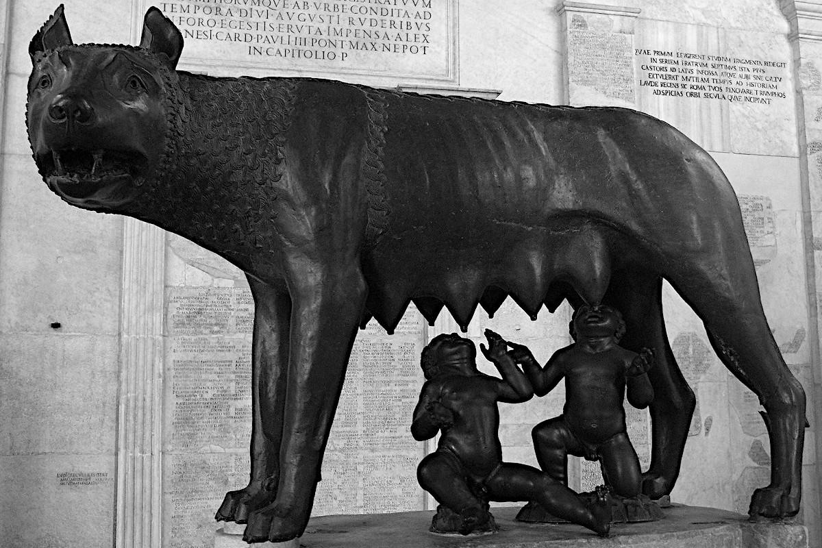 Wölfin Kapitolinische Museen Rom